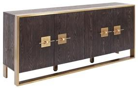 Kare Design Osaka Houten Dressoir Met Messing - 180x40x80cm.