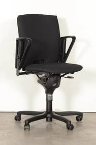 Bureaustoel D5073, zwart, (opnieuw gestoffeerd) 1D armleggers