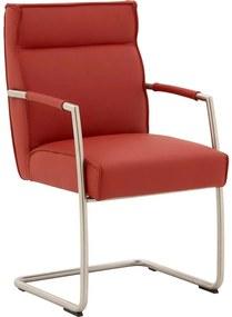Goossens Knock Out rood leer met arm, modern design