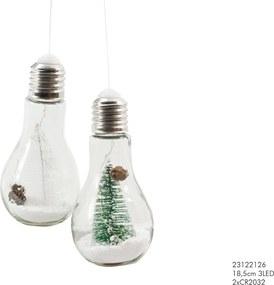 Gloeilamp 18,5 cm LED kerstboom assorti