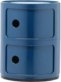 Kartell Componibili bijzettafel medium (2 comp.) blauw