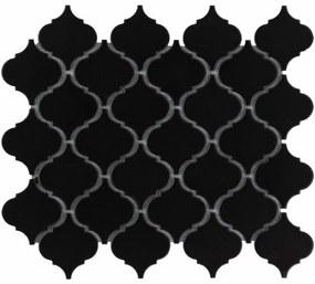 The Mosaic Factory Paris mozaïektegel 5.2x5.2x0.6cm wandtegel voor binnen en buiten overig Keramiek Zwart PALG915