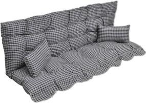 4-delige Kussenset voor schommelstoel stof blauw en wit