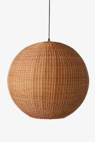HKliving Bamboo pendant ball hanglamp bruin