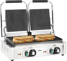 Panini grill dubbel gegroefd 3600 W 58x41x19 cm