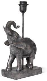 Lampenvoet olifant - zwart - 23x12.5X39.5 cm