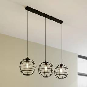 Kooi hanglamp Bekira, drie lampjes, langwerpig - lampen-24