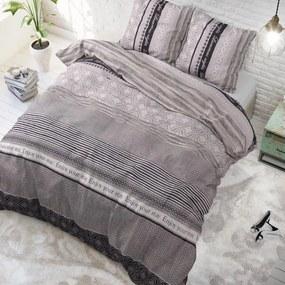 Sleeptime Elegance Your Stay - Antraciet 1-persoons (140 x 220 cm + 1 kussensloop) Dekbedovertrek
