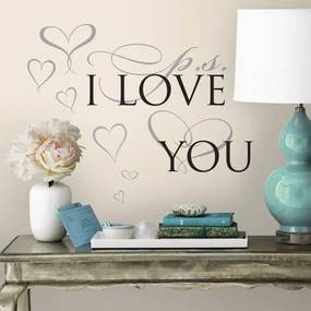 Muursticker P.S. I Love You