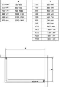 Douchecabine Collins Rechthoek Draaideur 80x100x200cm Antikalk Helder Glas Chroom Profiel 8mm Veiligheidsglas Easy Clean