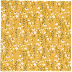 Servetten, papier, geel met veldbloemen, 33 x 33 cm