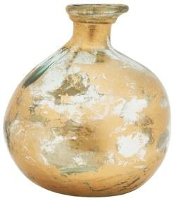 Vaas recycle - goud - ø18.5x18 cm