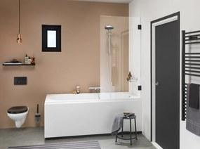 Get Wet I Am badwand 75cm x 160cm mat zwart