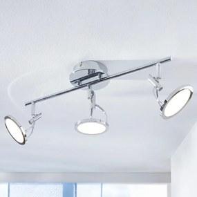 LED plafondspot Jorne, verchroomd, 3-lamps - lampen-24