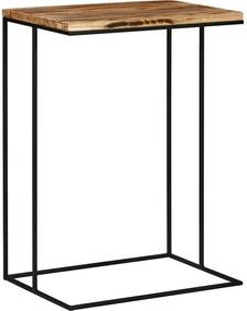 Goossens Bijzettafel Jill, hout eiken blank, elegant chic, 50 x 70 x 35 cm