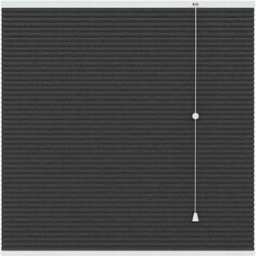 Plisségordijn duplistof verduisterend - antraciet - 80x220 cm - Leen Bakker
