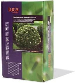 Kerstverlichting net 50 lampjes 100 cm x 100 cm connect xp clear Luca