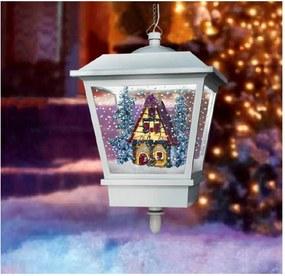 Hanglamp met sneeuweffect wit huis