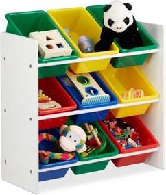 Speelgoedrek - opbergrek kinderen - speelgoedboxen opbergmeubel speelgoed kleurr M
