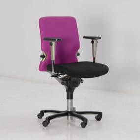 Bureaustoel Comforto 77, paars / zwart, 3D armleggers