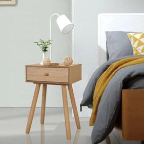 Nachtkastjes 40x30x61 cm massief grenenhout bruin 2 st