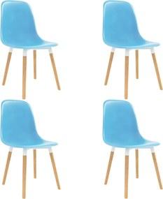 Eetkamerstoelen 4 st kunststof blauw