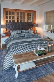 Rivièra Maison Beddengoed | Dekbedovertrekset Union Ave lits-jumeaux: breedte 240 cm x lengte 200/220 cm + blauw dekbedovertrekken | NADUVI outlet