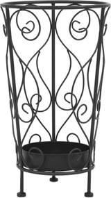 Parapluhouder vintage stijl 26x46 cm metaal zwart