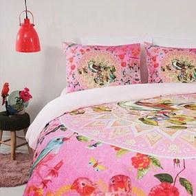Fresh & Co Floral Birdy 1-persoons (140 x 200/220 cm + 1 kussensloop) Dekbedovertrek