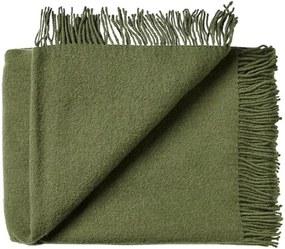 Plaid wol: effen, groen, cypress