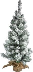 Van Der Gucht Brampton kunstkerstboom met sneeuw 75 cm in jute zakje
