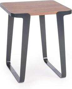 Profoli Platta - Bijzettafel - 51 x 51 cm - Hout en metaal- Tafel - Scandinavisch - Design - Staal - Metalen - Retro -Europese kwaliteit