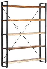 Boekenkast met 5 schappen 140x30x180 cm massief gerecycled hout