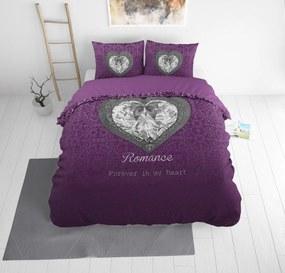 Sleeptime Elegance Romance Heart Purple 1-persoons (140 x 220 cm + 1 kussensloop) Dekbedovertrek