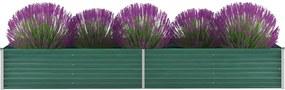 Plantenbak verhoogd 320x80x45 cm gegalvaniseerd staal groen