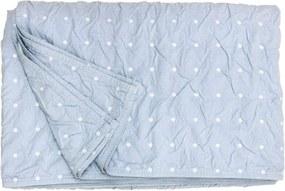 Heckett & Lane bedsprei Priscilla - blauw - 270x260 cm - Leen Bakker