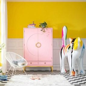 Kare Design Disk Roze Kledingkast - 120x55x180cm.