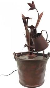 Waterornament Flower - Polystone - Roodbruin - 85cm