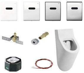 Urinoir Set Salenzi Hung Achterinlaat Mat Wit met TECE Drukplaat Elektronisch Adaptor
