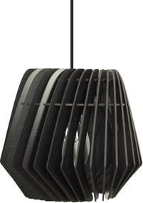Spin hanglamp - Hout - Medium Ø 36 cm - Zwart
