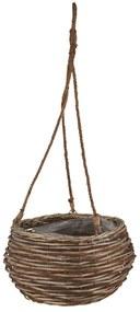 Bloempot aan touw - bruin - 33x19 cm