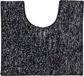 Toiletmat Antislip Sealskin Speckles Polyester/Micro Fibre Zwart 45x50cm