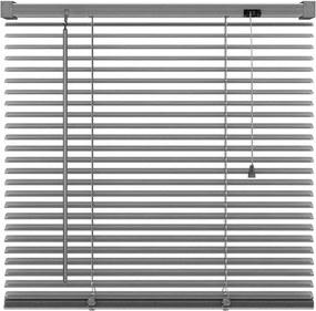 Basic horizontale jaloezie PVC - antraciet - 80x130 cm - Leen Bakker