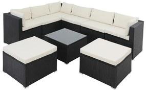 Casaria Polyrotan XL loungeset 26-delig. Zwart
