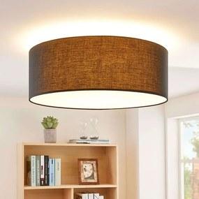Ronde, zwarte LED plafondlamp Dora, dimbaar