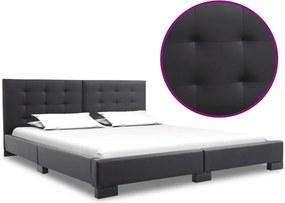 Bedframe kunstleer zwart 200x160 cm
