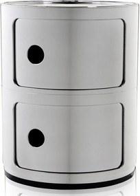 Kartell Componibili kast metallic (2 comp.)