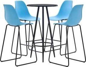 5-delige Barset kunststof blauw