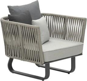 Garden Impressions Venosa lounge stoel - donker grijs