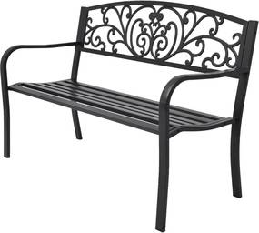 Tuinbank 127 cm gietijzer zwart